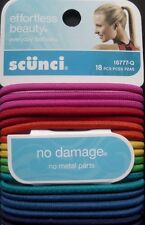New Scunci Hair Bands No Damage Scrunchie Scrunchy Beauty Elastics Ponytail 18ct
