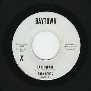 '64 R&B NORTHERN TROY DODDS Earthquake/Trying To Find My Baby BAYTOWN M- HEAR!