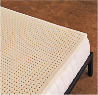 Pure Green 100% Natural Latex Mattress Topper - Soft - 3 Inch - Twin XL Size