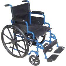 Drive Medical Blue Streak Wheelchair Flip Back Desk Arms Swing Away Footrests 16