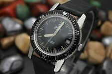 Vintage Henri SANDOZ Automatic 25j Stainless Steel 36mm Men's Diver's Watch