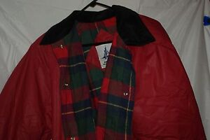 Misty Harbor Red Trench Coat Overcoat Size Large-good condition