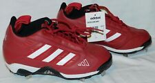 Adidas shoes Red & White baseball cleats size 6.5 leather Excelsior Mid NWT mint