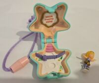 Vintage Polly Pocket BlueBird 1992 Skating Star Locket Necklace Rare COMPLETE