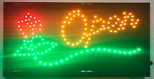 Ultra Bright Led Neon Light Animated Flower Store Open Sign for business Lb26