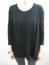 Cooper Size M or 12 Black Jersey Cotton Long Sleeved Top