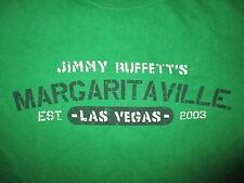 JIMMY Buffett Margaritaville las Vegas Camiseta Verde Parrothead BAR Restaurante