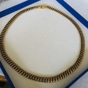 Pierre Lang PL Collier Halskette GO Gold 43 cm 7 mm klassisch