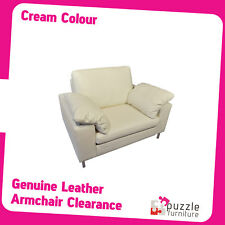 Genuine Leather Armchair in Cream Colour Brand New
