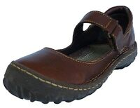 BORN Brown Leather Handcrafted Mary Jane Comfort Shoe Flats Womens 7.5