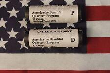 2012 P&D El Yunque Quarters - 2 roll set - Unc Original Mint rolls