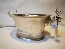 More details for earl&wilson luxury dear heads large oval silver champagne bucket wine ice cooler