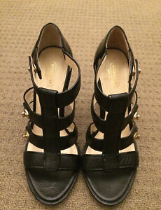 COACH WOMEN'S BLACK LEATHER HIGH HEELS SIZE 8.5B GOOD CONDITION OFFICIAL AUSSIE!