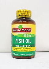 Nature made 1200mg Fish Oil 360mg Omega-3 100 Softgels