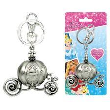 Disney Cinderella Carriage Pewter Key Ring, NEW