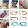 Fashion Boho Women Conch Shell Bead Tassel Charm Anklet Bangle Bracelet Jewelry