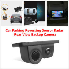 2in1 Car Parking Reversing Sensor Radar Rear View Backup Night Vision Camera Kit