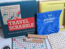 Travel Scrabble Game (Spears Games 1970s) Boxed and COMPLETE