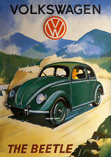 VW BEATLE VOLKSWAGON A4 GLOSSY PHOTO POSTER VINTAGE BEATLE NEW A4 PRINT CAR