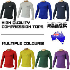 Men Compression Soccer Body Armour Base Layer Thermal Under Top Rugby Skins New
