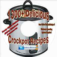 1300+ Great Recipes For The Slow Cooker/Crockpot Cookbook On CD