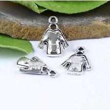 25pcs Tibetan silver cute heart clothes charms H0786
