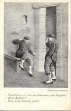 CPA 14-18 WW1 HUMOUR HUMORISTIQUE lady senterie