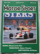 Motor Sport 08/1988 featuring Lancia Delta HF Integrale