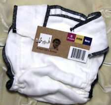 Geffen Baby 100% Cotton Snapless Fitted Cloth Diapers (Small / Navy Edge)