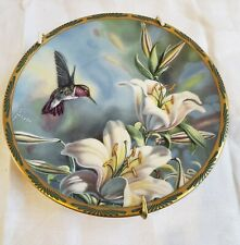 1989 Pickard Ruby-Throated Hummingbird & Lilies collectible plate