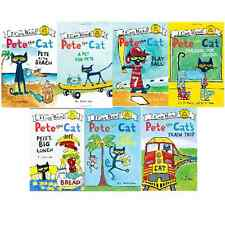 PETE THE CAT LOT 7 BOOKS I CAN READ Beach, School, Pet, Ball, Banana, Lunch, Tr