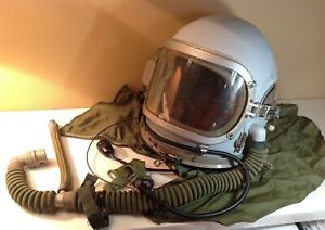 Test aviation helmet Gsh-6m.For two types of respiratory mixture.Mega rare.1960s