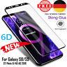 1x/2x 6D Full Cover für Samsung Galaxy S8 S9 Note 9 8 Plus 9H-Schutzglasfolie BY