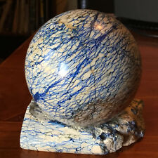 Stunning Azurite CAVE Sphere and Stand from Russia 8cm