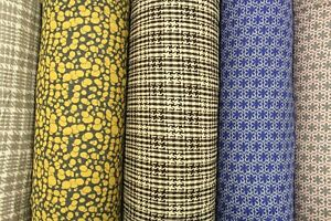 """Premium Poly Wool Blend Fabric, 6 Designs, Double Sided Pattern, Approx 60"""" Wide"""