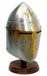 Medieval Knight Helmet Crusader Templar helmet Hand-Forged sca/armor For HEMA