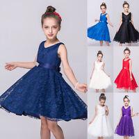 Pageant Flower Girl Dress Kids Birthday Wedding Bridesmaid Gown Formal Dresses..