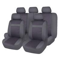 11 PCS Car Seat Covers Set for Truck SUV Van Universal Protectors Jacquard Grey