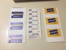 Blockbuster Video Membership Cards 6 Blank Cards & 6 Plastic Laminate Sleeves