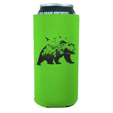 Mountain Bear 16 oz Neoprene Collapsible Can Coolie; Tallboy, Pounder