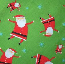 Springs Navidad Papa Noel algodón edredón Tejido Verde Rojo Por 0.5m caprichoso