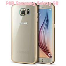 Aluminium Luxus Bumper gold Back Cover 2 teilig für Samsung Galaxy S6