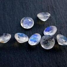 15 PCS LOT WHITE RAINBOW MOONSTONE 6x6 MM ROUND CUT FACETED LOOSE GEMSTONE