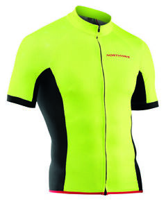Northwave Force Full Zip Short Sleeves Bicycle Cycle Bike Jersey Fluo Yellow
