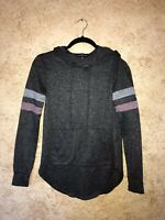 Almost Famous Sweatshirt HOODIE Grey Size Small