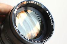 "HANIMAR Auto ""S"" 135mm f/2.8  Telephoto Lens  for Pentax M42 screw mount  ,Japan"