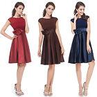 Ever Pretty Elegant Satin Short Women Cocktail Party Prom Cute Dress 06113
