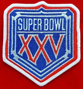 Official NFL Super Bowl XXV (25) Patch NY Giants vs. Buffalo Bills - NEW/MINT