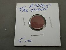 OLD Vintage Coin Tax Token Red Point Vintage OPA Food Ration