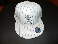 A White with stripes fitted hat size Large TNT Authentic NEW with Tag